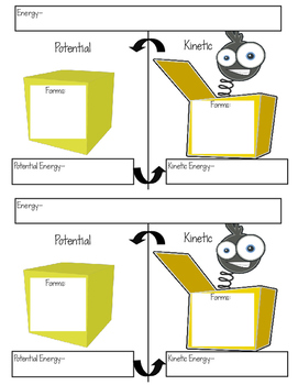 Potential and Kinetic Energy Student Notes Template