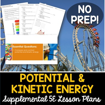 Potential and Kinetic Energy - Supplemental Lesson - No Lab