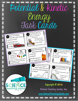 Potential and Kinetic Energy Task Cards