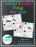 Potential and Kinetic Energy Task Cards (Google Classroom compatible)