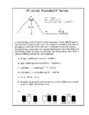 Potential and Kinetic Energy Worksheet II Springs