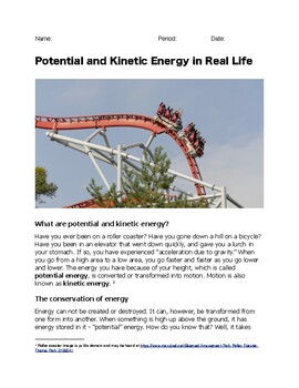 Potential and Kinetic Energy in Real Life