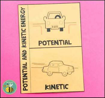 Potential and Kinetic energy-Interactive science notebook foldable
