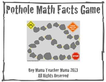 Pothole Math Fact Game