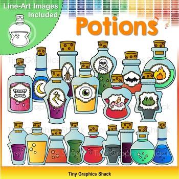 Potion Bottles Clip Art