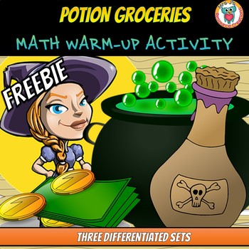 Free Math Center or  Math Warm-Up Activity: Potion Groceries