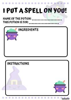 Potion worksheet