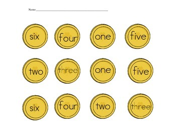 Pots of Gold Number Words