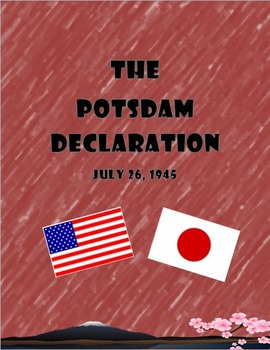 Potsdam Primary Source Document with follow up questions