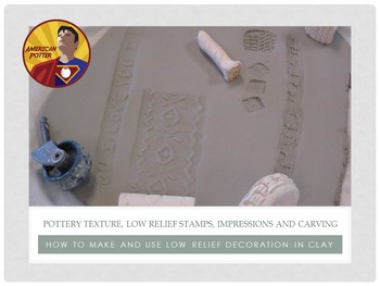 Pottery: Adding Texture and Low Relief Clay Decoration for Ceramics