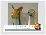 Pottery: Animal Head Coat Hook or Towel Holder