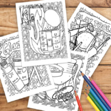 Pottery Coloring Sheet Pack of 4