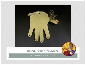 Pottery: Reindeer Christmas Ornament