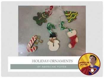 Pottery: Christmas Ornaments