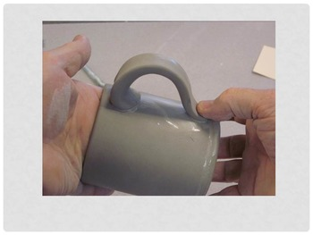 Pottery: Simple Ceramic Cup with Handle from Clay