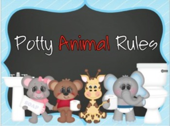 """Potty Animal Rules"" Poster Set"