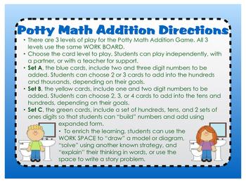 Potty Math Addition 2.NBT.B.7