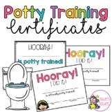 Potty Training Certificates