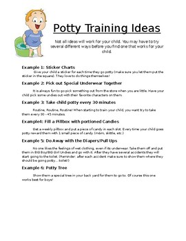 Potty Training Poster/Handout
