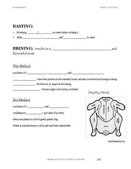 Poultry Worksheet
