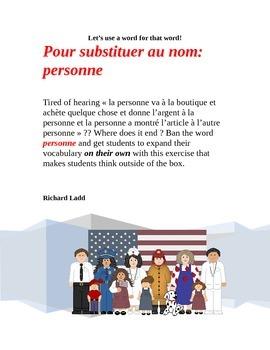 Pour substituer au nom personne FRENCH