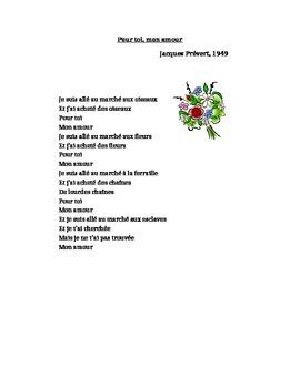 Pour toi mon amour by Jacques Prevert