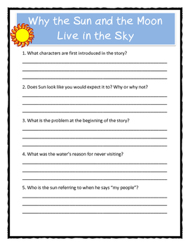 Pourquoi Folktale Lesson Plan / Why the Sun and the Moon Live in the Sky