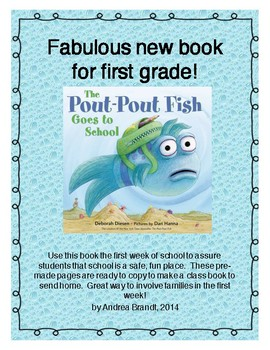 Pout Pout Fish Goes to School - 1st grade edition