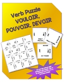 Pouvoir Vouloir and Devoir Verb Puzzle