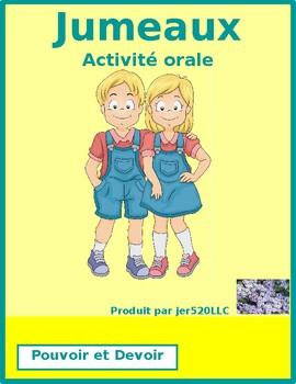 Pouvoir and Devoir Jumeaux Speaking activity