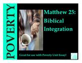 Poverty Biblical Integration