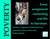 Poverty Essay and Activity Bundle