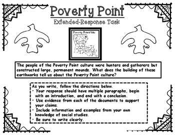 Poverty Point Extended Response Writing Task Printables Pack