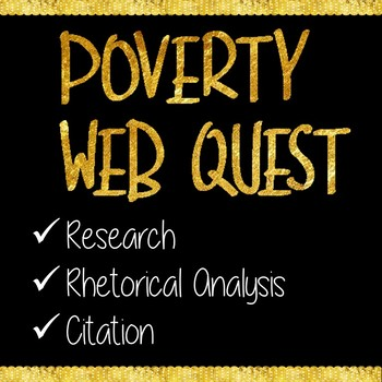 Poverty Web Quest Research Activity for AP Language and Composition