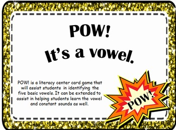 Pow! It's a Vowel literacy game