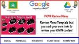 Pow Review Menu