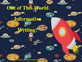 Pow Tide Informative Writing Power Point Space themed