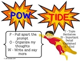 Pow Tide Writing Poster and Graphic Organizer Superhero theme