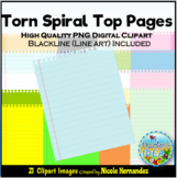 Ring Hole Notepaper Clip Art for Personal & Commercial Use
