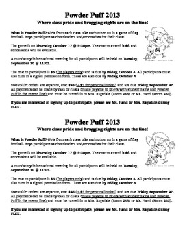 Powder Puff Information Packet