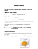 Powepoint notes for Solids, Liquids, Gases and Solubility 2013