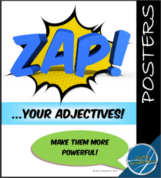 Power Adjectives Descriptive Adjective Posters