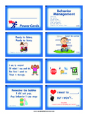 Power  Cards- Behavior Management