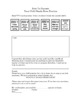 Practice Cards Parent Notes