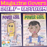 Create Your Own Magazine Cover Collage Craft for Girl's Self Esteem