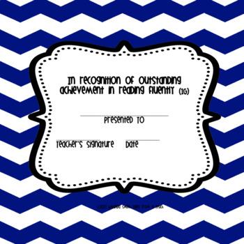 Power Goal Award Certificates: Ready to Use Chevron Printables