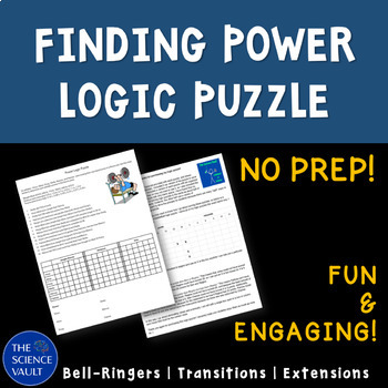 Power Logic Puzzle, Critical Thinking, Power, Work, Force,