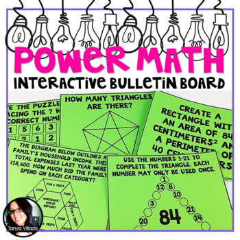 Power Math Interactive Bulletin Board Math Puzzlers and Word Problems