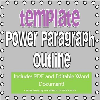 Power Paragraph Template