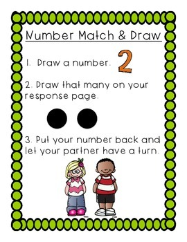 Power Partner Game! Number 1-12: Match, Draw, Write!